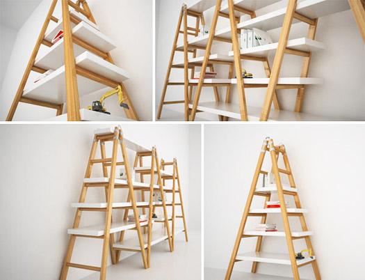 ladder shelving 2