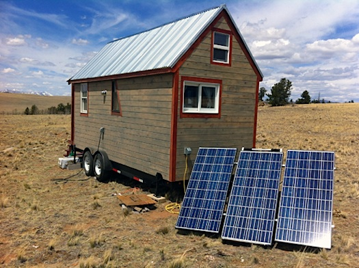 TINY house w solar panels