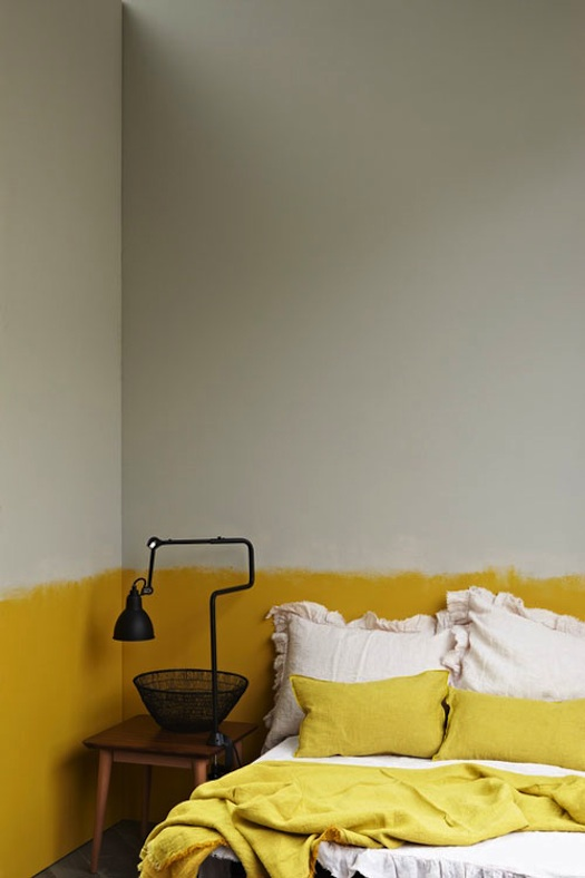 half painted wall rough