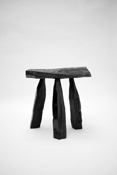 max lamb hews a lacquered stool from a tree