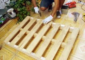 diy shipping pallet furniture steps