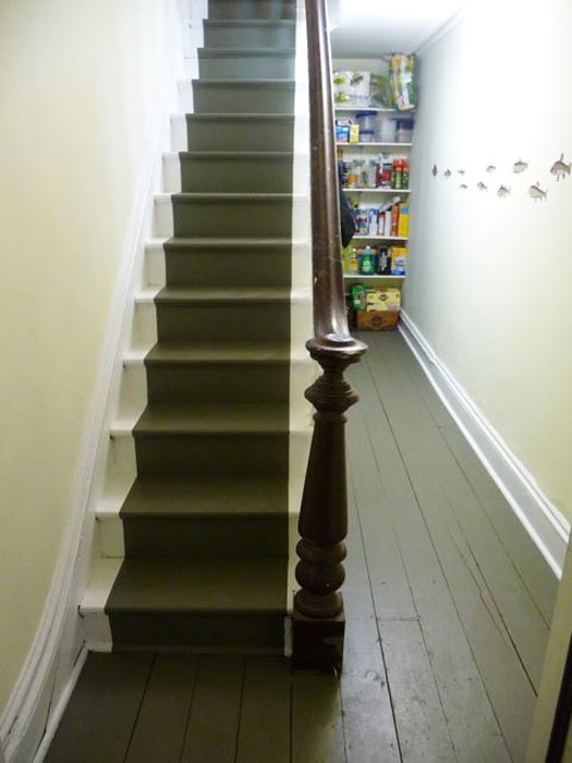 Julie Houston's renovation staircase