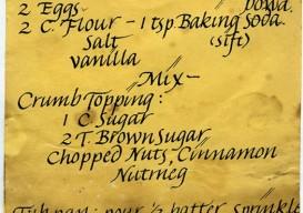 handwritten sour cream cake recipe