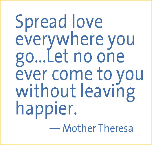 spread love mother theresa yel bord