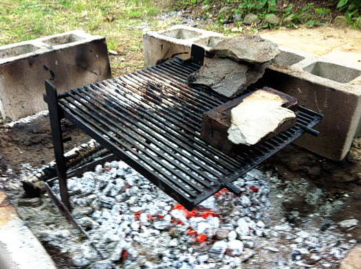 grill stand charcoal
