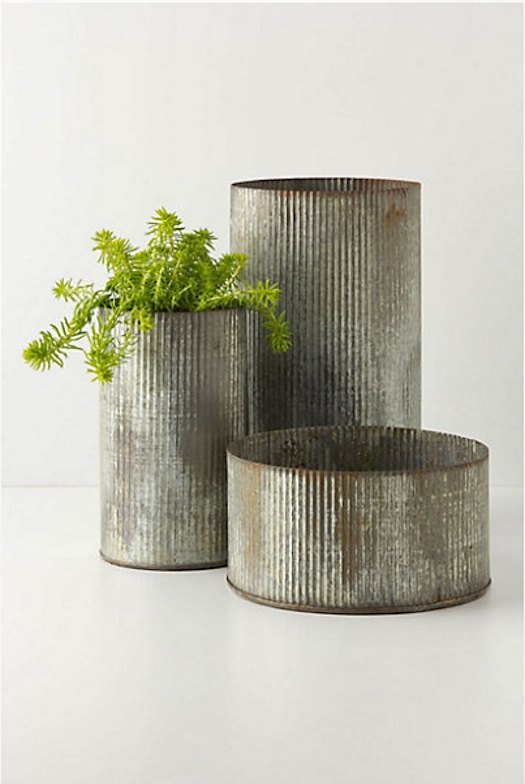 anthropologie zinc cans
