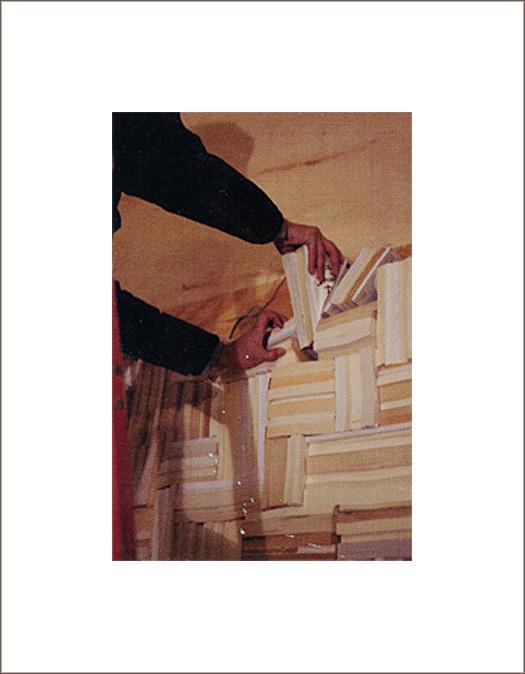 brushstroke book wall in process 2