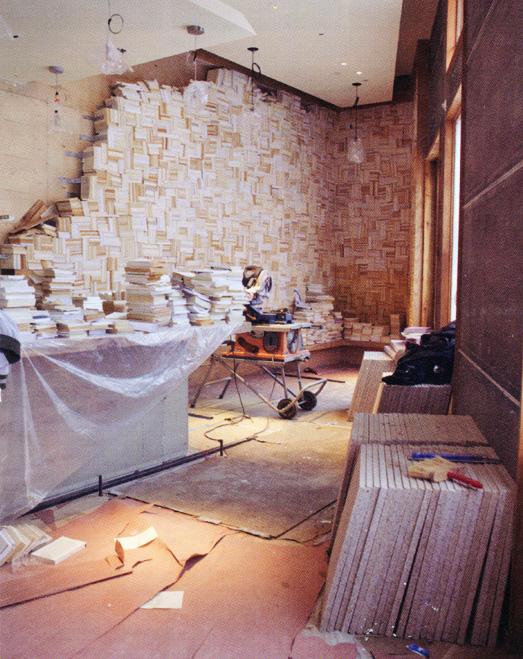 brushstroke book wall process