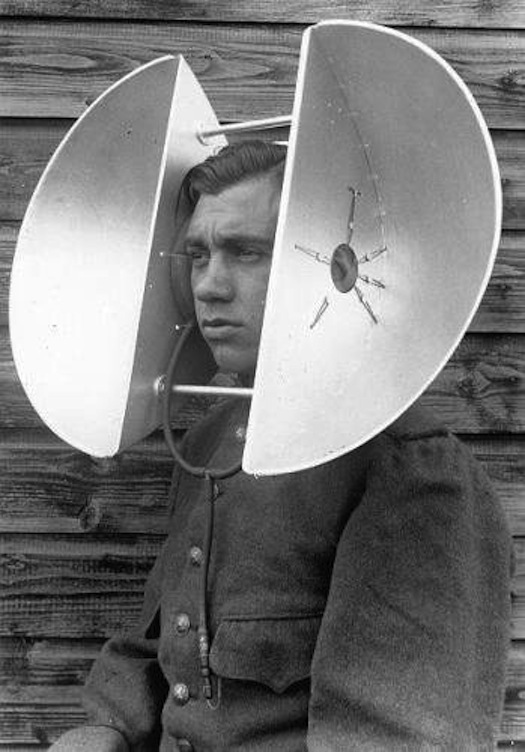 guy with ear amplifiers