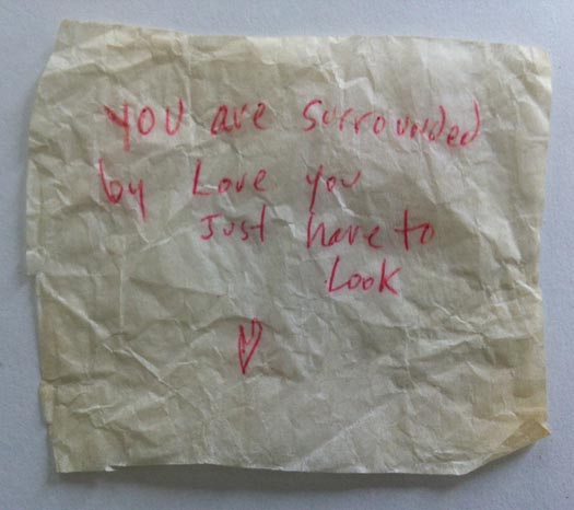 surrounded by love note