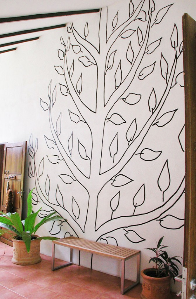 Matisse inspired tree wall