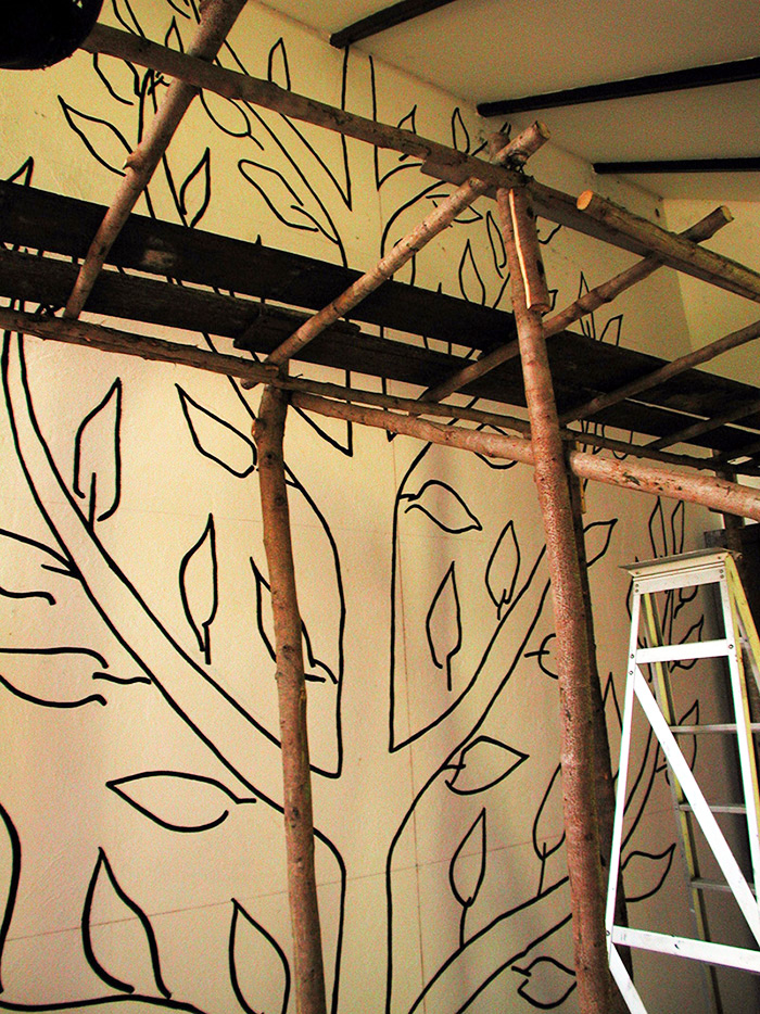 Matisse tree scaffold + guide wires