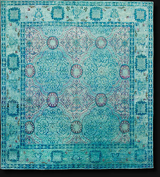 Overdyed silk rug Color_Reform_India