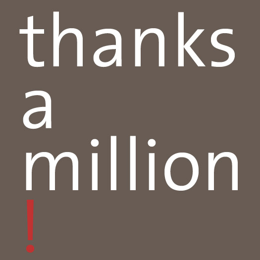 thanks a million w red !