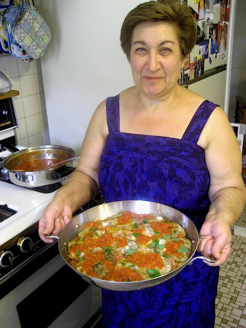 Lucia LoPresti w eggplant dish