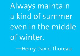 always maintain summer thoreau