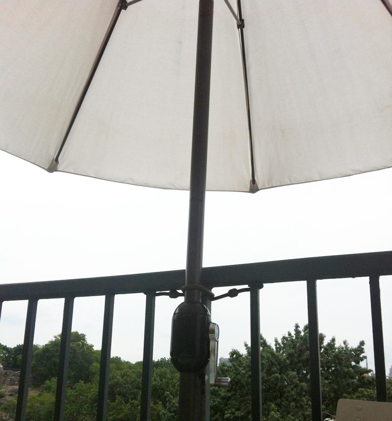 bungee lashed umbrella