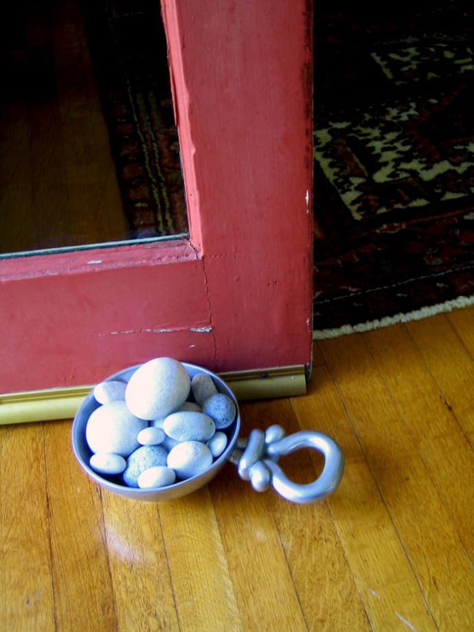 doorstop made from stones from the cyclades