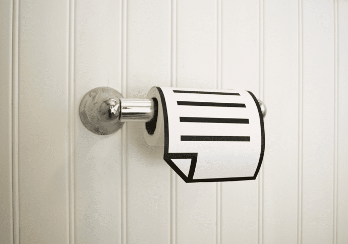 bold graphic toilet paper