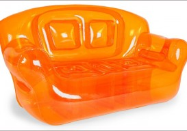 inflatable sofa electric orange