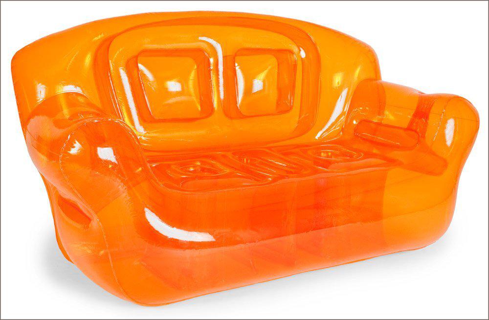 inflatable sofa electric orange