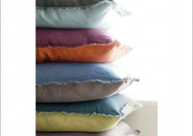 linen frayed edge pillow 1