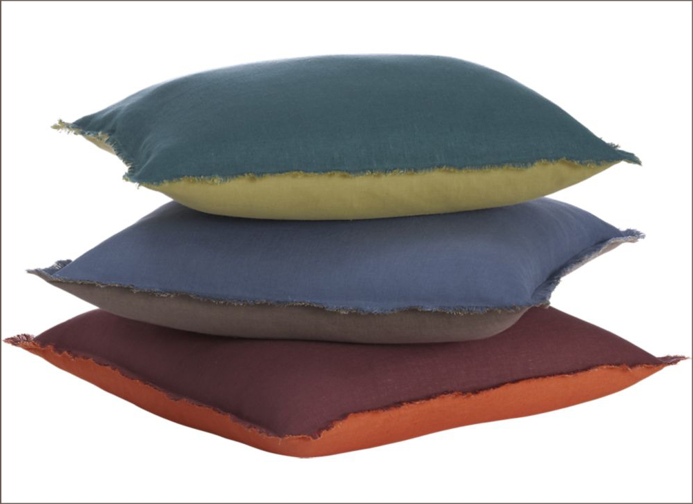 linen frayed edge pillows 2
