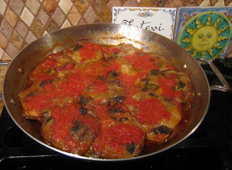 lucia's eggplant finished dish