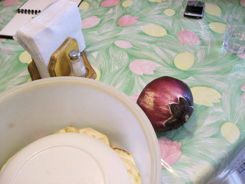 lucia's eggplant salting