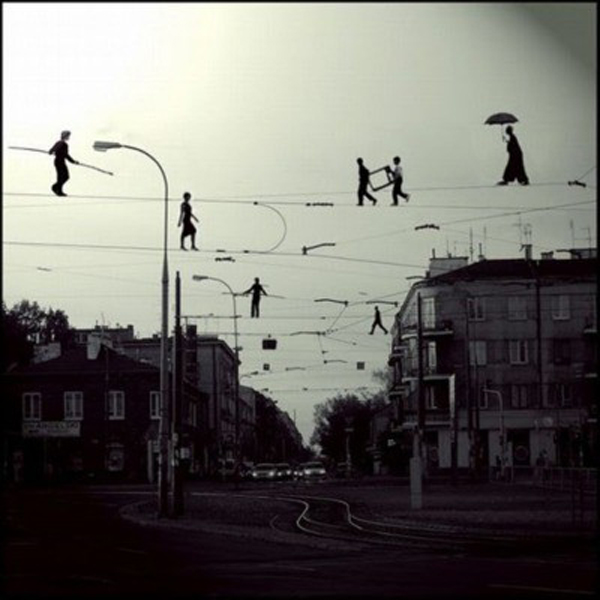 tight rope walkers ??