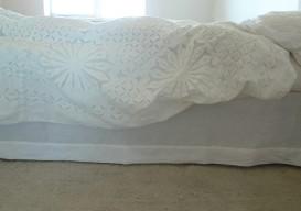 diy linen bed skirt dust ruffle