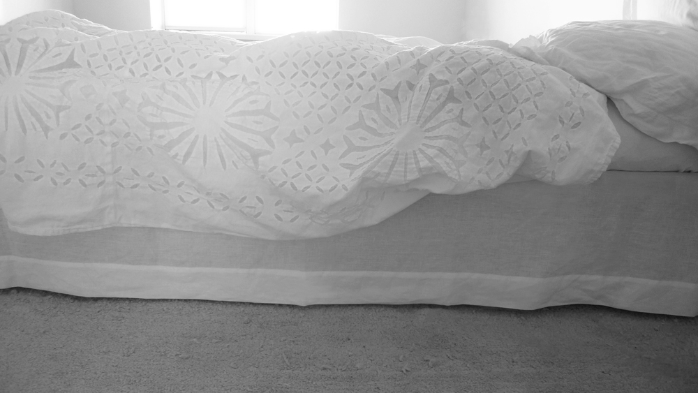 diy linen bed skirt dust ruffle