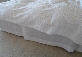 diy linen bed skirt dust ruffle 4