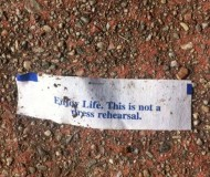 life is not a dress rehearsal fortune cookie