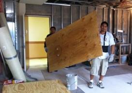 plywood floors materials
