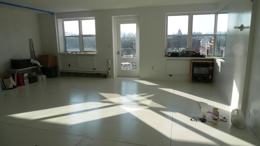 plywood floors painted