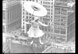 1924 tightrope walker: mastery + risk to dance in the air