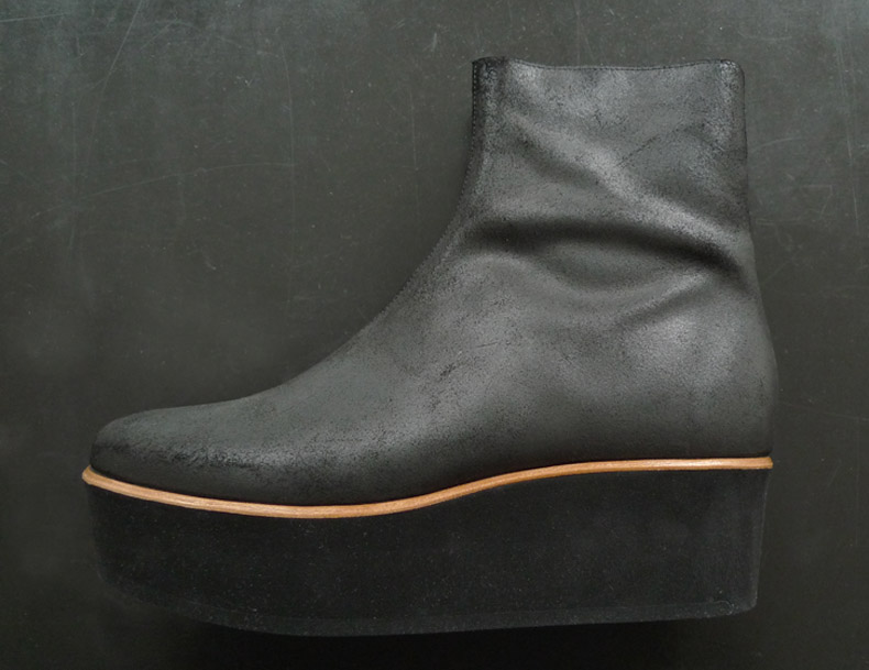 Martin Margiela waxed suede boot