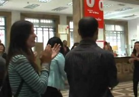 guerrilla dance goes viral in a spanish bank