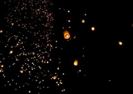 if not balloons, how about sky lanterns + wishing papers?