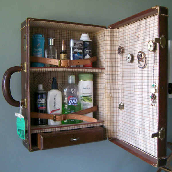 old suitcase cabinet