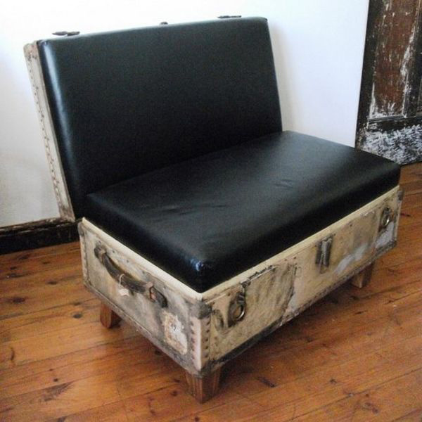 old suitcase sofa