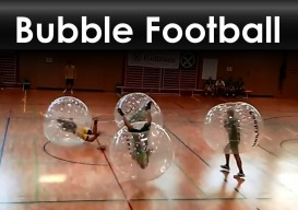 play bubble soccer or just roll away…