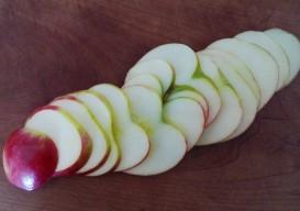 side sliced apple
