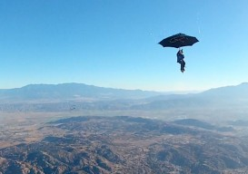 what would happen if…you skydived with an umbrella?