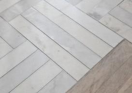wood floor w marble tile
