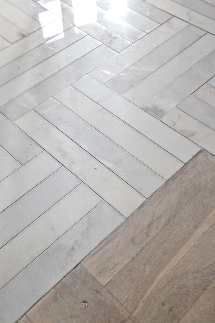 wood floor w marble tile