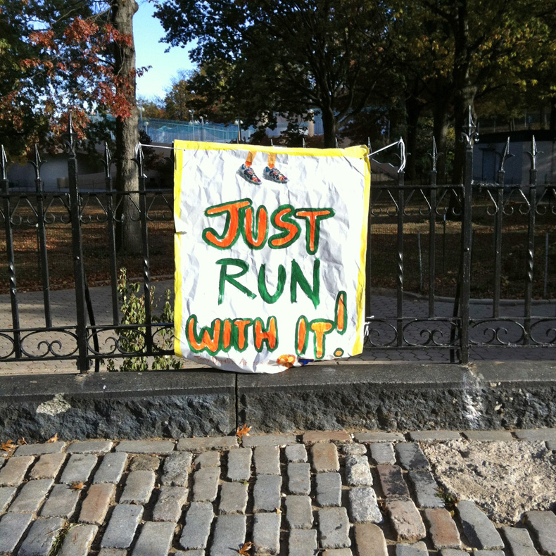 nyc marathon sign 3