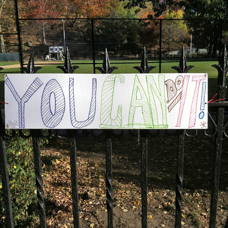 nyc marathon sign 5