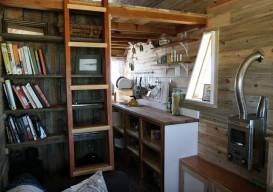 tiny house bookshelf + kitchen-apt therapy